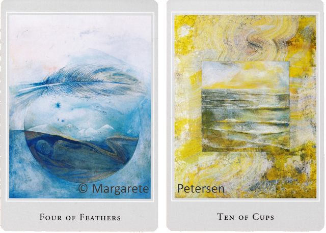 Four of Feather Ten of Cups  Margarete Petersen Tarot