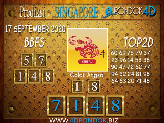 Prediksi Togel SINGAPORE PONDOK4D 17 SEPTEMBER 2020