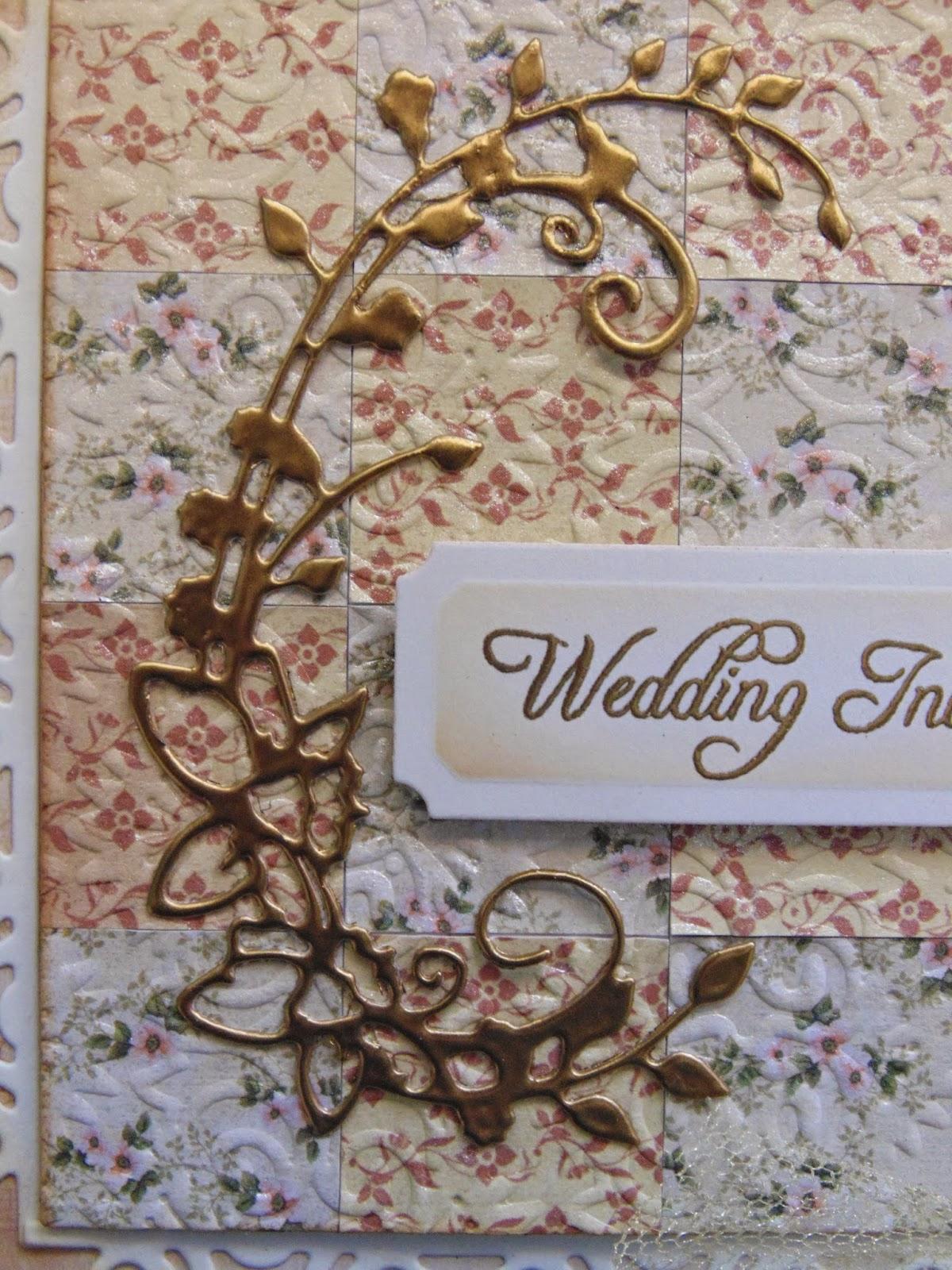 inky finger zone wedding invitation