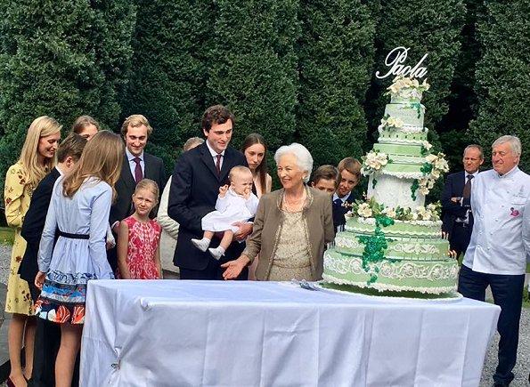 King Philippe, Queen Mathilde, Crown Princess Elisabeth, Prince Gabriel, Princess Eleonore, Prince Emmanuel, Princess Astrid, Prince Lorenz, Anna Astrid, Prince Laurent, Princess Claire, Prince Amedeo