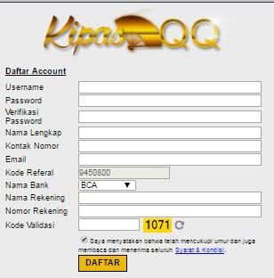 Hari ini kami infokan untuk ada dengan banyak sekali Kabar yang sangat cantik atau baik sekali Info Cara Daftar Poker Domino Online KipasQQ