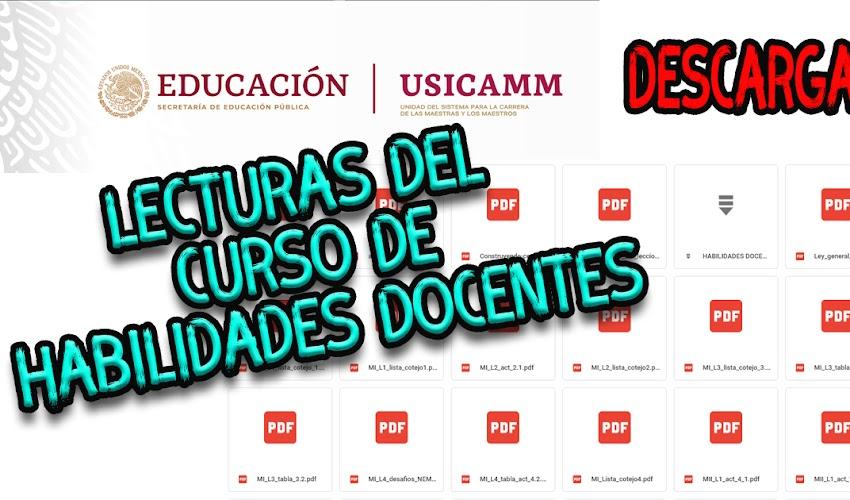 Lecturas del cursos de habilidades docentes (PDF)
