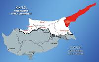 Kıbrıs haritasında İskele ilçesinin gösterimi