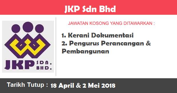 Jawatan Kosong di Jawatan Kosong di JKP Sdn Bhd