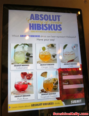 absolut, World First ABSOLUT Brand Store, KLIA, absolut hibiskus, ABSOLUT Hibiskus Calamansi, ABSOLUT Hibiskus Ginger Lime, ABSOLUT Hibiskus Chilli, ABSOLUT Hibiskus Pom-Rose, ABSOLUT Hibiskus Tropical Passion, drinkinspiration