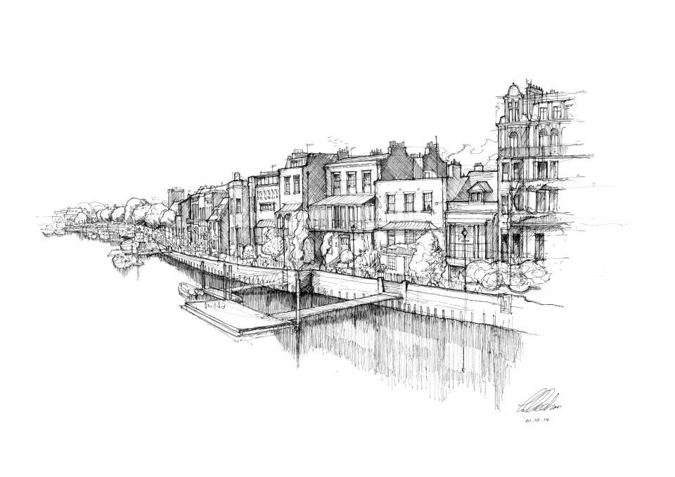 12-Hammersmith-Riverside-Luke-Adam-Hawker-Creating-Architectural-Drawings-on-Location-www-designstack-co