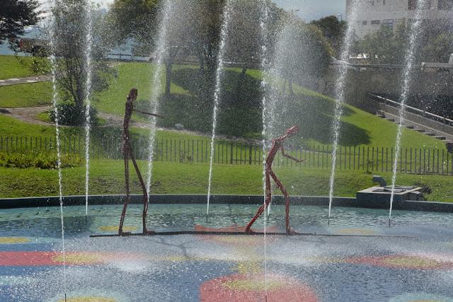 Quito art fountain