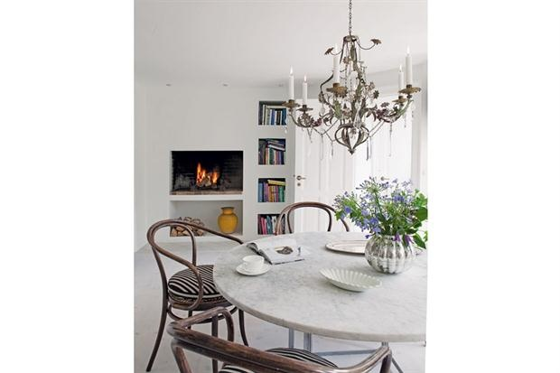 mesa redonda marmore