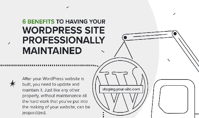 Six Benefits to Having Your WordPress Site Professionally Maintained #infographic