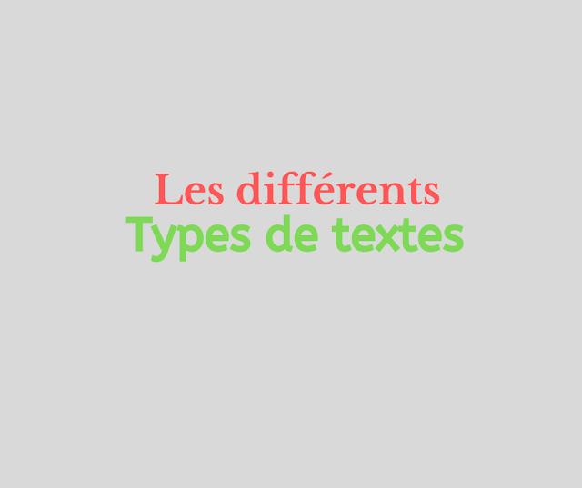 Les différents types de textes