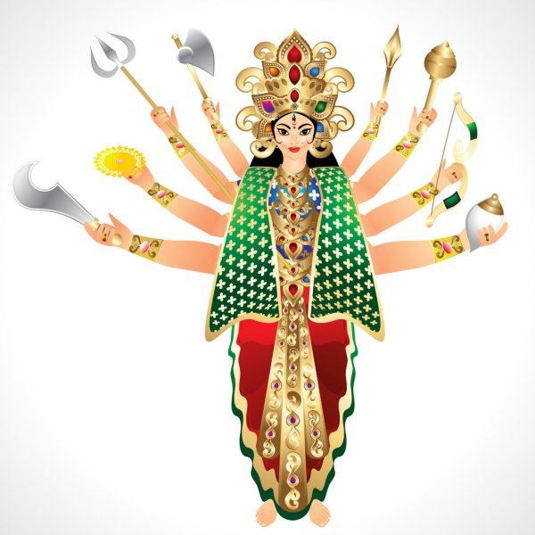JAI MATA DI / MAA DURGA NAVRATRI GOOD MORNING WISHES IMAGES PICS PHOTO HD DOWNLOAD
