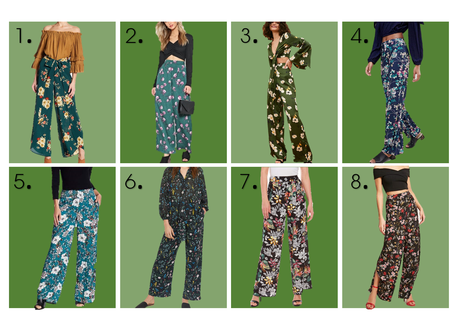 Floral Print Palazzo under $30