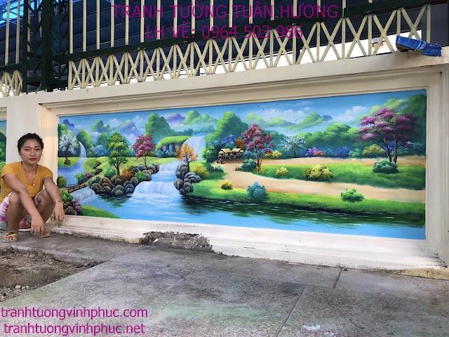 vẽ tranh 3d tại hải lựu sông lô vĩnh phúc4
