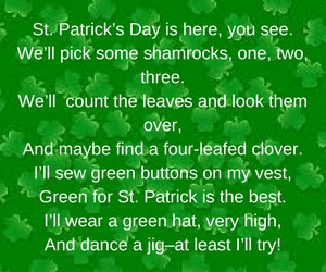 St Patrick's day love poems 2018
