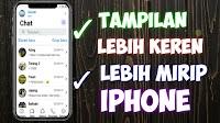 Cara Download WhatsApp Aero V.7.91 Apk - Tampilannya Lebih Mirip Iphone X Ios 12