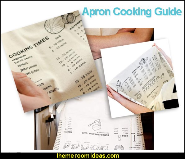 Apron Cooking Guide  decorative kitchen items - novelty mugs - unique kitchen gadgets - food pillows - kitchen wall decals - kitchen wall quotes - cool stuff to buy - kitchen cupboard contact paper -  kitchen storage ideas - cute kitchen utensils - fun cooking tools - dining decor -