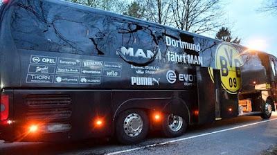 terror terhadap tim sepak bola bundesliga Borusia Dortmund
