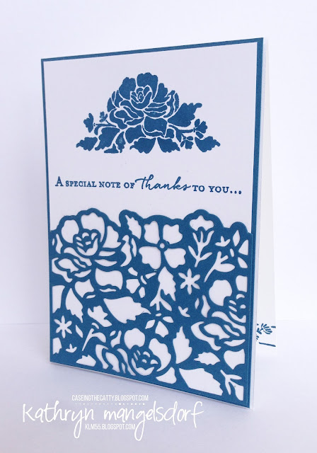 Stampin' Up! Floral Phrases & Detailed Floral Thinlits card created by Kathryn Mangelsdorf