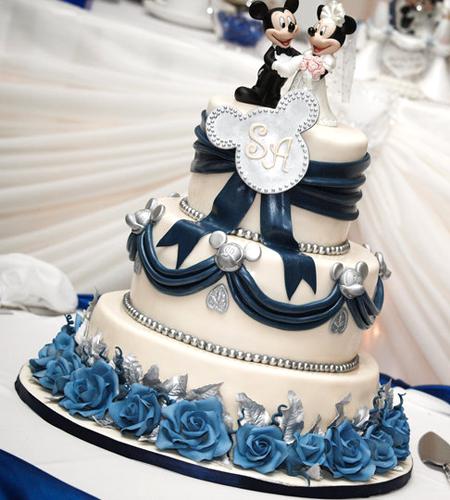 The Sensational Cakes Royal Blue 3 Tier Wedding Cake W