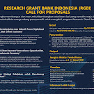 Research Grant Bank Indonesia (RGBI) Call For Proposals