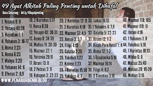 49 Ayat Alkitab Paling Penting untuk Dihafal