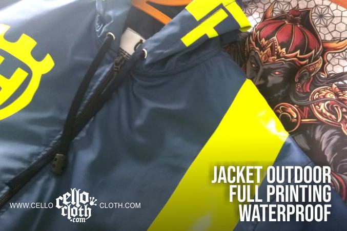 Jaket Outdoor Full Printing Custom Desain Tanpa Batasan Warna
