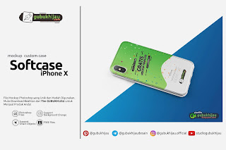 Mockup Custom Case Softcase iPhone X