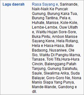 daftar lagu daerah kepulauan maluku indonesia wisataarea.com