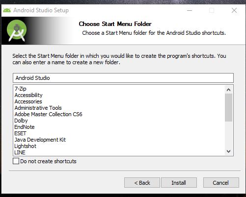 pembuatan shortcut di start menu