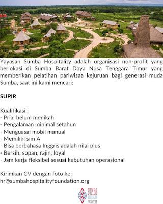 Lowongan Kerja Yayasan Sumba Hospitality Sebagai Supir