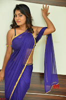Actress Priya in Blue Saree and Sleevelss Choli at Javed Habib Salon launch ~  Exclusive Galleries 053.jpg