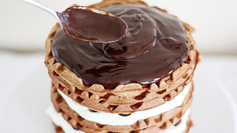 Black Forest Cherry Waffle Cake