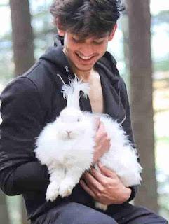 Satvik Sankhyan With Rabbit