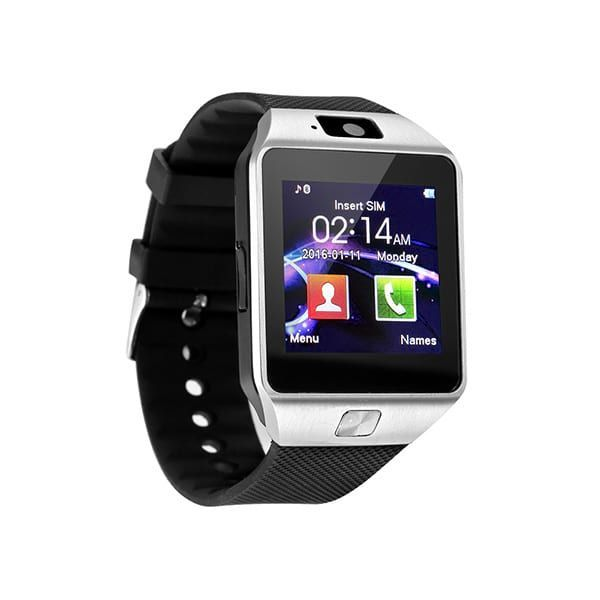 Sim Supported Smart Watch Mobile Dz09 - Silver - Multi Color-Gng