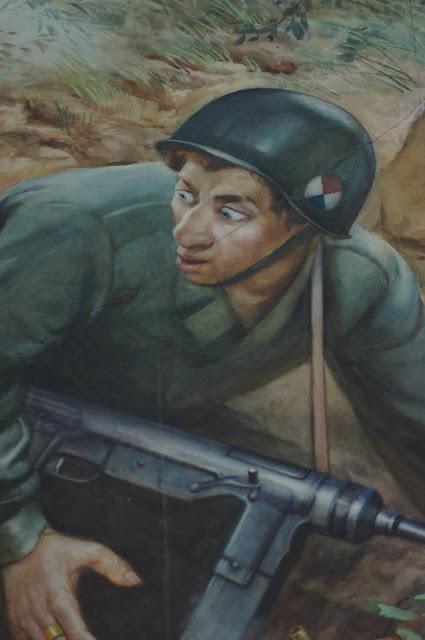 An American soldier on a propaganda poster from the Pyongyang War Museum