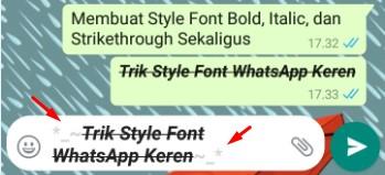 Membuat Style Font Bold, Italic, Dan Strikethrough