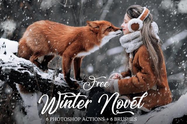 Photoshop Actions Salju/ Winter Snow Gratis