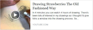 Drawing Strawberries the Old Fashioned Way