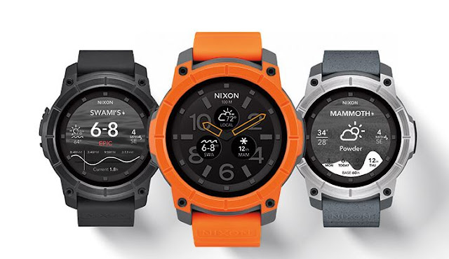 NIXON, NIXON android wear smartwatch, NIXON action sports smartwatch, NIXON sports watch