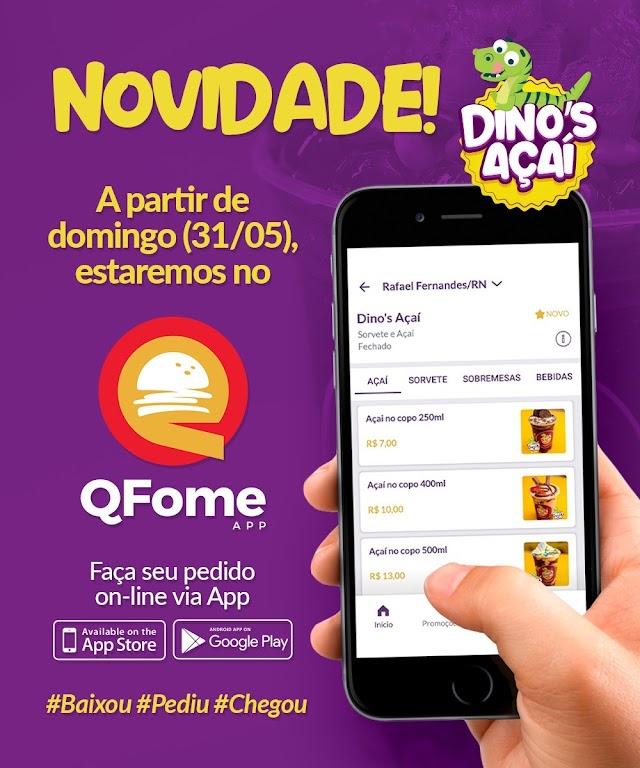 [Empreendedorismo] Dino's Açaí inova mais uma vez e realiza vendas também no App QFome