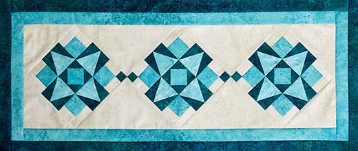 Ride the Wave Table Runner Free Pattern