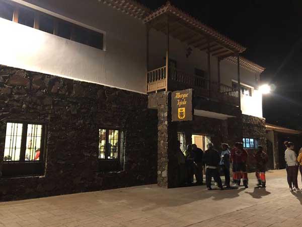 Evacuaciones de viviendas en Tejeda, Gran Canaria