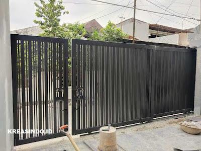 Pintu Pagar Besi Doble Sliding pesanan Bpk Candra di Cipinang Jakarta Timur