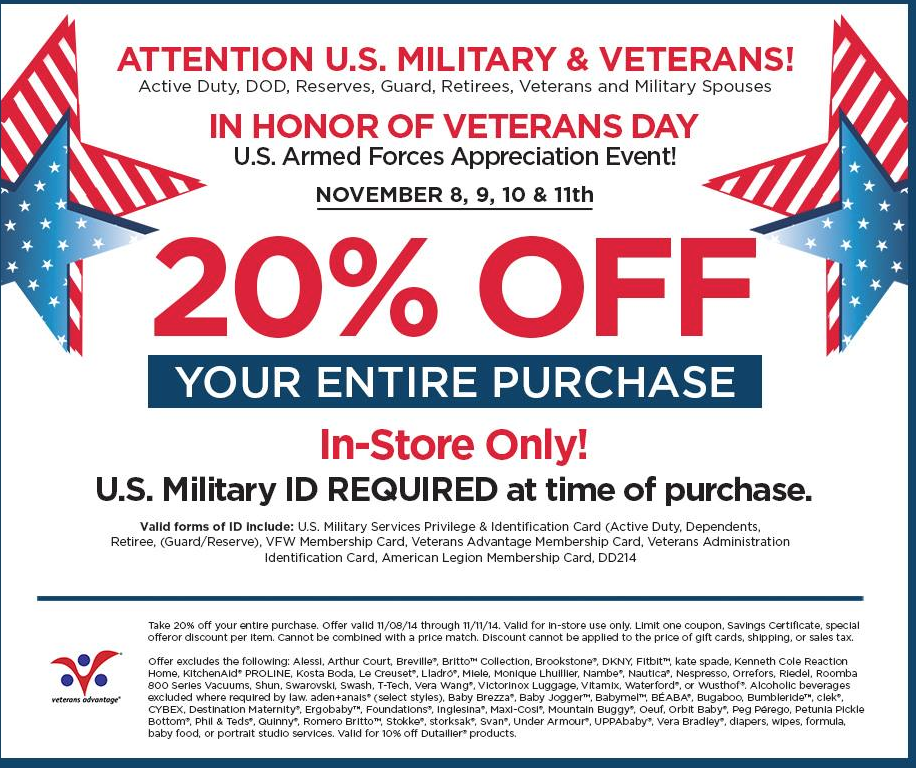 Bed Bath And Beyond Veteran S Day Coupon