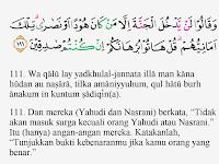 Pembahasan Tajwid Surat Al Baqarah Ayat 111