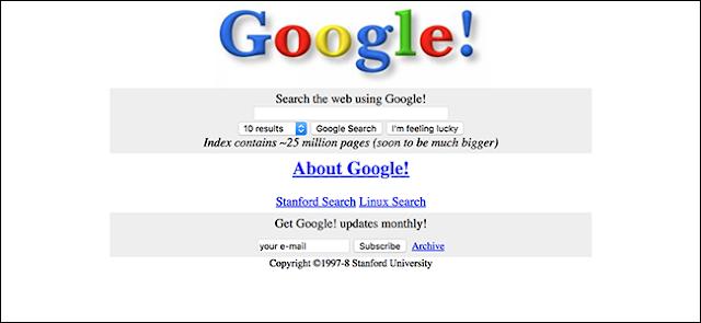 Ingin Tahu Tampilan Google, Facebook, Twitter Dan Situs Terkenal Lainnya 10 Tahun Lalu ?, Begini Caranya