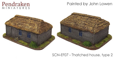 SCN-EF07  Thatched house, type 2 (Size: 70x50mm)