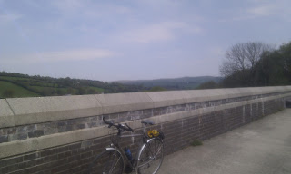 A bicycle on Magpie viaduct, outside Horrabridge, on NCN 27 (Devon Coast to Coast route)