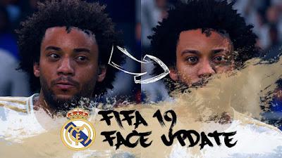FIFA 19 Faces Marcelo by CrazyRabbit