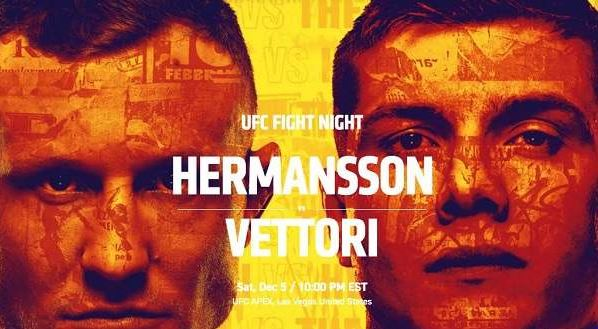 Watch UFC on ESPN Hermansson vs. Vettori 12/5/2020 Live Stream and Replay